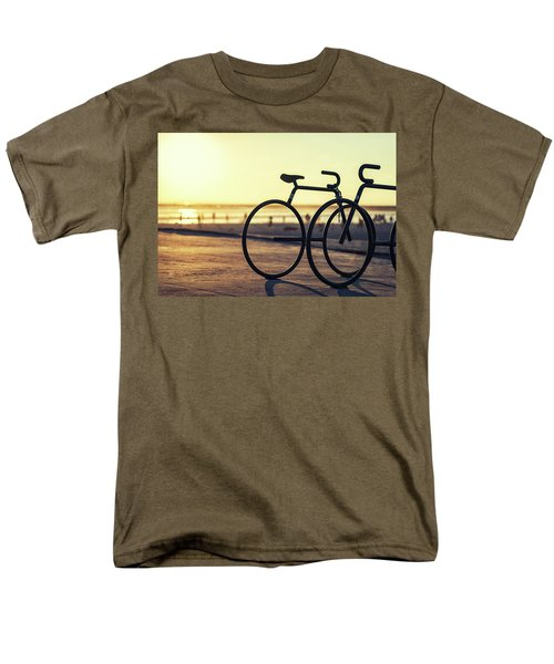 Waiting For A Rider Men's T-Shirt  (Regular Fit) by Joseph S Giacalone