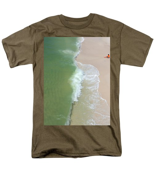 Men's T-Shirt  (Regular Fit) featuring the photograph Waiting For The Wave by Teresa Schomig