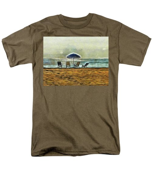 Men's T-Shirt  (Regular Fit) featuring the mixed media Waiting On High Tide by Trish Tritz