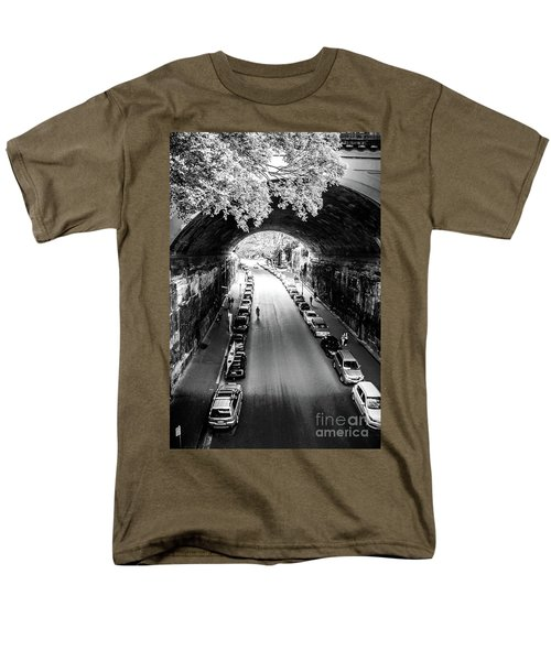 Men's T-Shirt  (Regular Fit) featuring the photograph Walk The Tunnel by Perry Webster