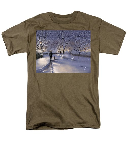 Men's T-Shirt  (Regular Fit) featuring the painting Walking In The Snow by Veronica Minozzi