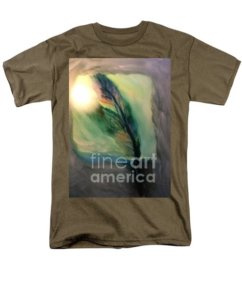 Men's T-Shirt  (Regular Fit) featuring the painting Walking In Your Light  by FeatherStone Studio Julie A Miller