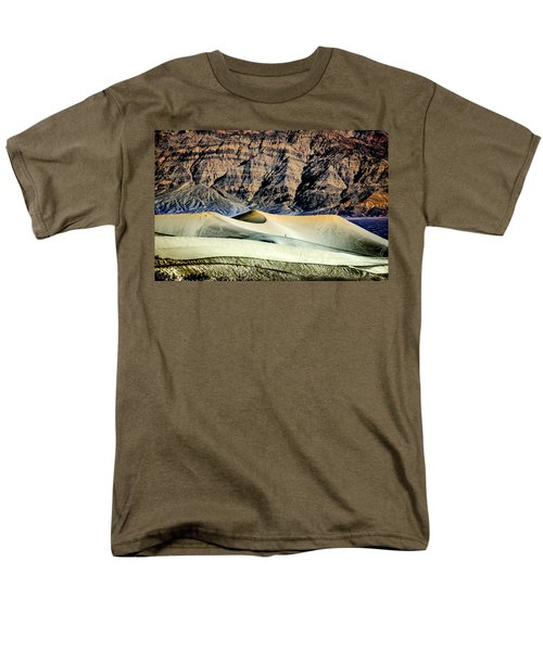 Men's T-Shirt  (Regular Fit) featuring the photograph Walking The Dunes In Death Valley by Janis Knight