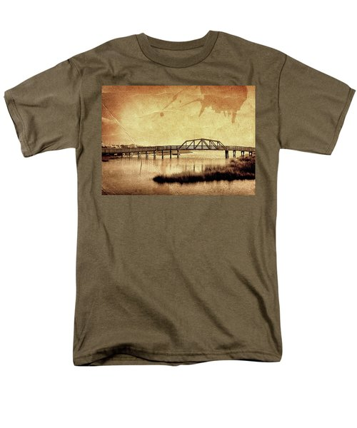 Walkway Over The Sound, Topsail Beach, North Carolina Men's T-Shirt  (Regular Fit) by John Pagliuca