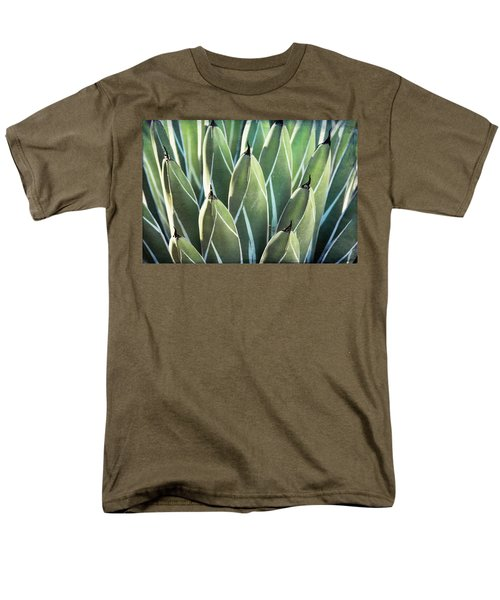 Men's T-Shirt  (Regular Fit) featuring the photograph Wall Of Agave  by Saija Lehtonen