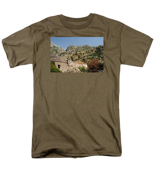 Men's T-Shirt  (Regular Fit) featuring the photograph Walls Of Kotor by Robert Moss