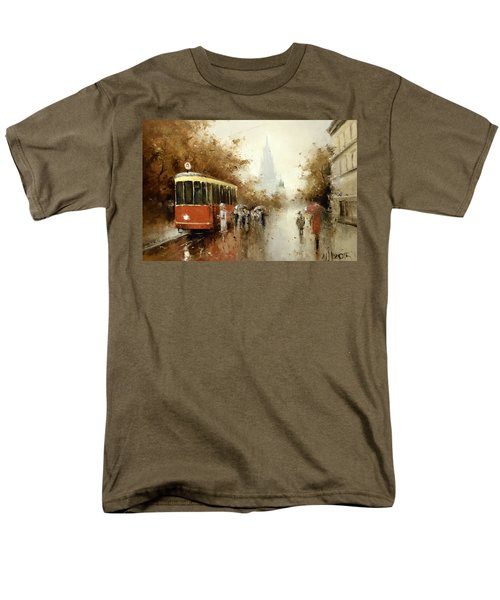 Warm Moscow Autumn Of 1953 Men's T-Shirt  (Regular Fit) by Igor Medvedev