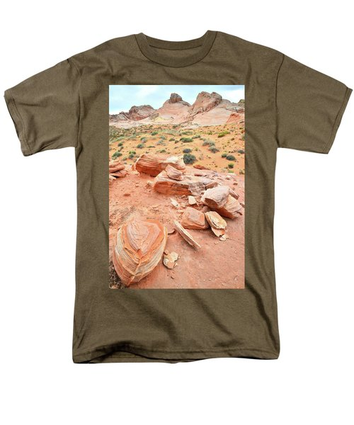 Men's T-Shirt  (Regular Fit) featuring the photograph Wash 4 In Valley Of Fire by Ray Mathis