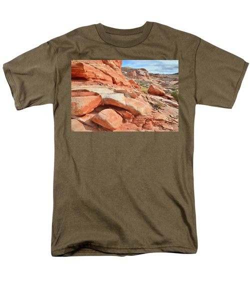 Wash 5 In Valley Of Fire Men's T-Shirt  (Regular Fit) by Ray Mathis