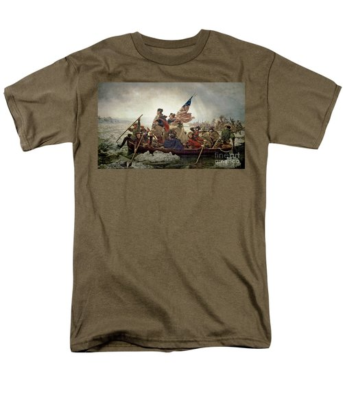 Washington Crossing The Delaware River Men's T-Shirt  (Regular Fit) by Emanuel Gottlieb Leutze