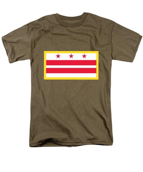 Washington, D.c. Flag Men's T-Shirt  (Regular Fit) by Frederick Holiday