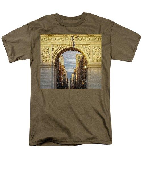 Washington Square Golden Arch Men's T-Shirt  (Regular Fit) by Jeffrey Friedkin