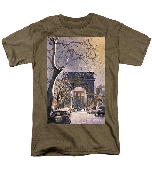 Washington Square- Nyc Men's T-Shirt  (Regular Fit) by Ryan Fox