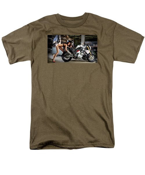 Men's T-Shirt  (Regular Fit) featuring the photograph Watch Out For The Sparks by Lawrence Christopher
