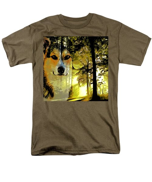 Men's T-Shirt  (Regular Fit) featuring the digital art Watcher Of The Woods by Kathy Kelly