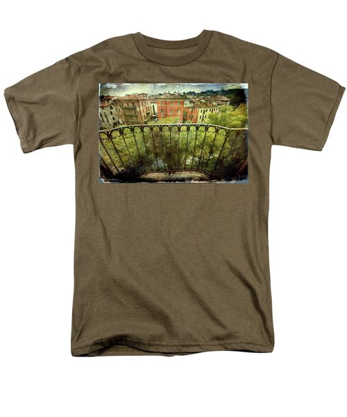 Watching From The Balcony Men's T-Shirt  (Regular Fit)