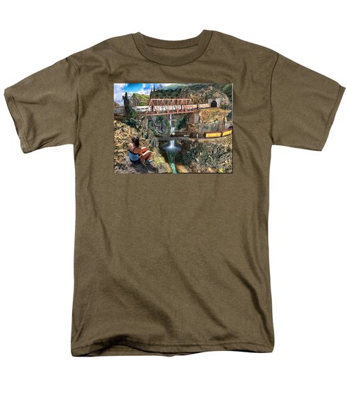 Watching The World Go By Men's T-Shirt  (Regular Fit) by Michael Cleere