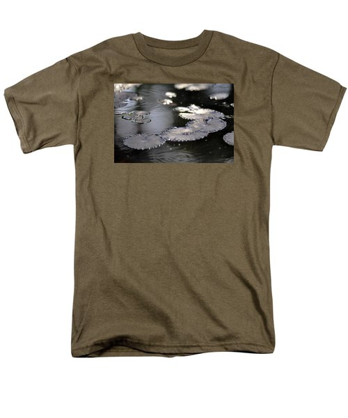 Men's T-Shirt  (Regular Fit) featuring the photograph Water And Leafs by Dubi Roman