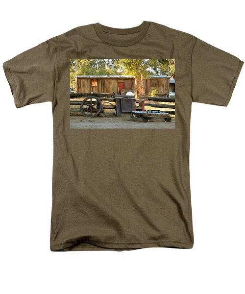 Men's T-Shirt  (Regular Fit) featuring the photograph Water Draw At Hotel Nipton California By Floyd Snyder by Floyd Snyder