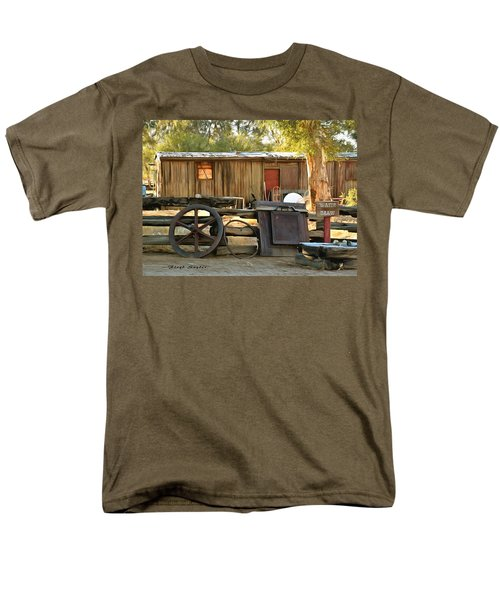 Men's T-Shirt  (Regular Fit) featuring the photograph Water Draw At Hotel Nipton California Detail by Floyd Snyder