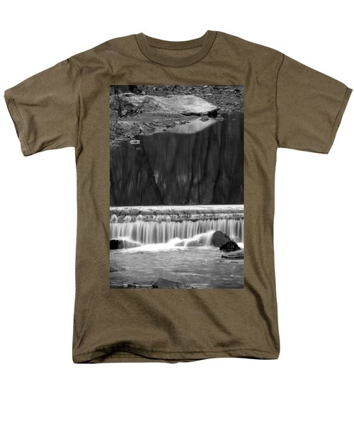 Water Fall And Reflexions Men's T-Shirt  (Regular Fit) by Dorin Adrian Berbier