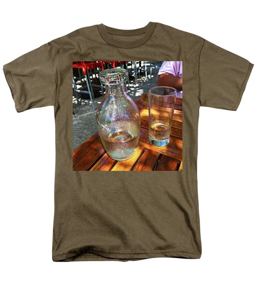 Men's T-Shirt  (Regular Fit) featuring the photograph Water Glass And Pitcher by Angela Annas