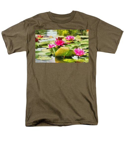 Men's T-Shirt  (Regular Fit) featuring the painting Water Lilies by Maciek Froncisz