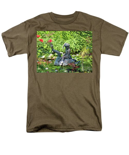 Water Lilly Pond Men's T-Shirt  (Regular Fit) by Inspirational Photo Creations Audrey Woods