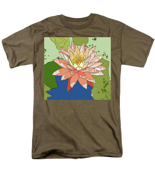 Water Lily And Duck Weed Men's T-Shirt  (Regular Fit) by Jamie Downs