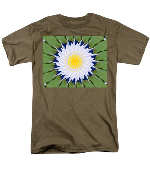 Water Lily Kaleidoscope Men's T-Shirt  (Regular Fit) by Bill Barber