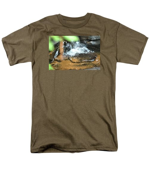 Waterfall And Pool On Soap Creek Men's T-Shirt  (Regular Fit) by James Potts