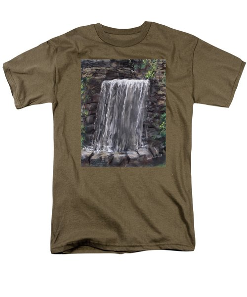 Waterfall At Longfellow's Gristmill Men's T-Shirt  (Regular Fit) by Jack Skinner