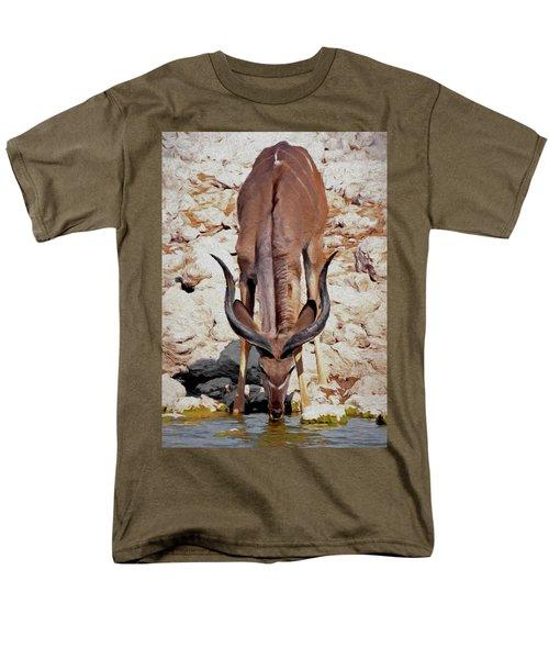 Men's T-Shirt  (Regular Fit) featuring the digital art Waterhole Kudu by Ernie Echols