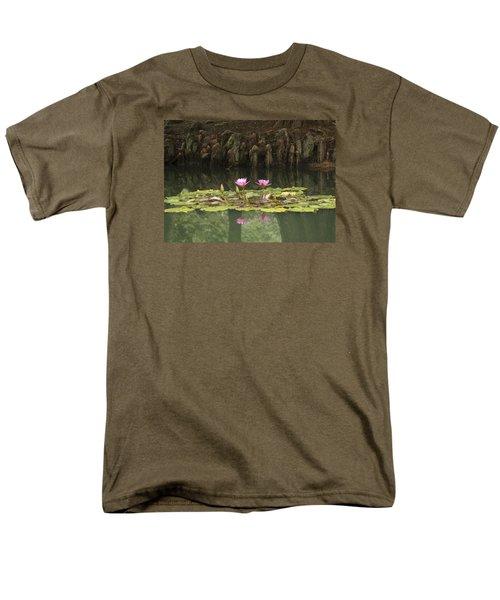 Waterlilies And Cyprus Knees Men's T-Shirt  (Regular Fit) by Linda Geiger