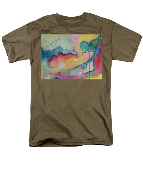 Men's T-Shirt  (Regular Fit) featuring the digital art Watery Abstract by Susan Stone