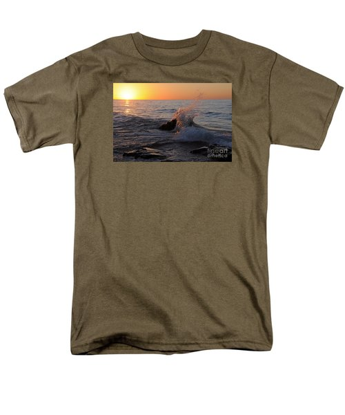 Men's T-Shirt  (Regular Fit) featuring the photograph Waves At Sunrise by Sandra Updyke