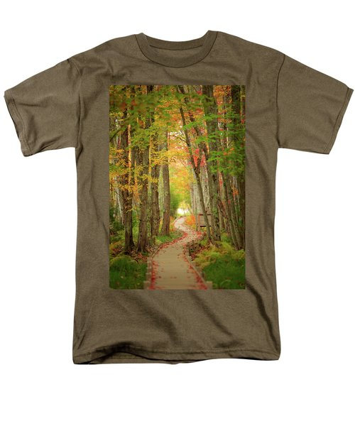 Men's T-Shirt  (Regular Fit) featuring the photograph Way To Sieur De Monts  by Emmanuel Panagiotakis