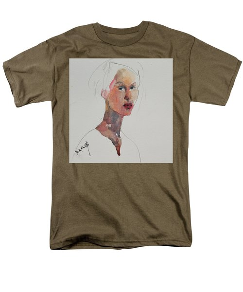 Men's T-Shirt  (Regular Fit) featuring the painting Wc Mini Portrait 2 by Becky Kim