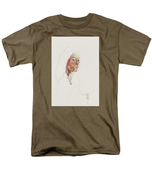 Men's T-Shirt  (Regular Fit) featuring the painting Wc Mini Portrait 3             by Becky Kim
