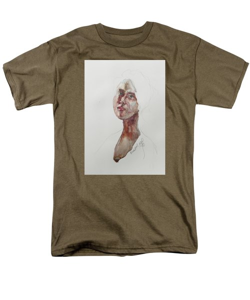 Men's T-Shirt  (Regular Fit) featuring the painting Wc Mini Portrait 7             by Becky Kim