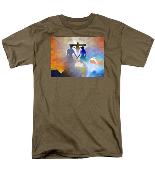Men's T-Shirt  (Regular Fit) featuring the painting We Are God's Masterpiece by Wayne Pascall