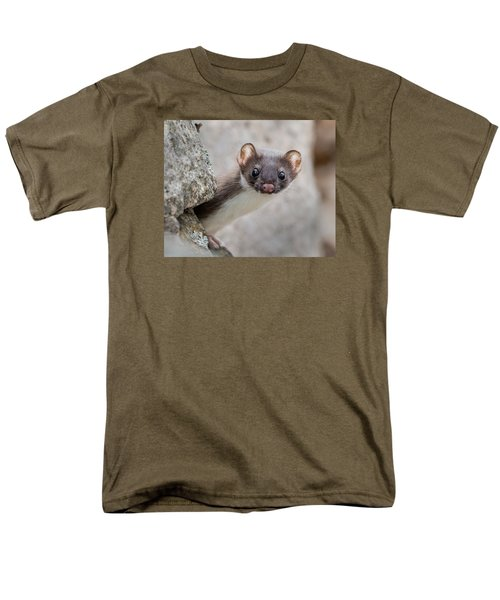 Weasel Peek-a-boo Men's T-Shirt  (Regular Fit) by Stephen Flint