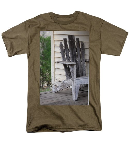 Men's T-Shirt  (Regular Fit) featuring the photograph Weathered Porch Chair by Debbie Karnes