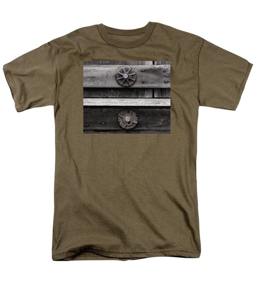 Men's T-Shirt  (Regular Fit) featuring the photograph Weathered Wood And Metal Five by Kandy Hurley