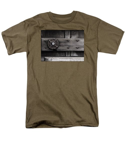 Men's T-Shirt  (Regular Fit) featuring the photograph Weathered Wood And Metal Four by Kandy Hurley