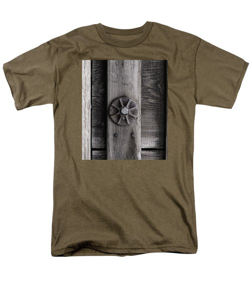 Men's T-Shirt  (Regular Fit) featuring the photograph Weathered Wood And Metal Three by Kandy Hurley