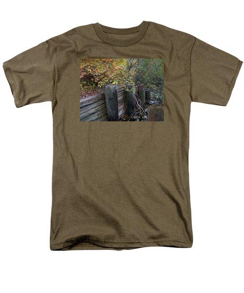 Weathered Wood In Autumn Men's T-Shirt  (Regular Fit) by Cedric Hampton