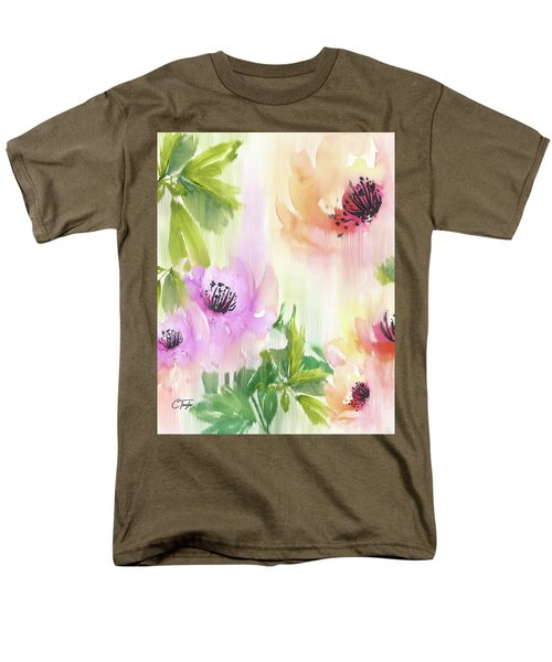 Men's T-Shirt  (Regular Fit) featuring the painting Weeping Rose Forest by Colleen Taylor