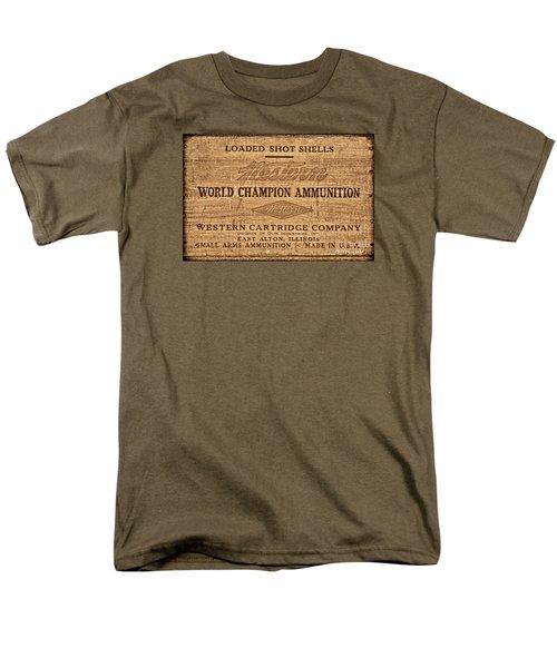 Western Ammunition Box Men's T-Shirt  (Regular Fit) by American West Legend By Olivier Le Queinec