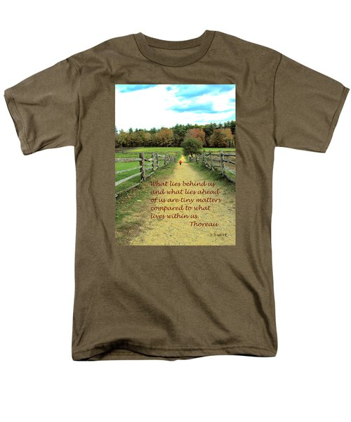 What Lies Ahead Men's T-Shirt  (Regular Fit) by Deborah Dendler